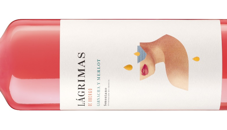 We present the new label of our special pink wine